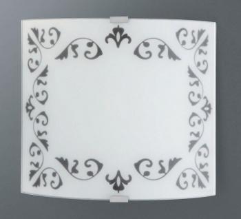 Wandleuchte Schwarz Weiß 23 x 21cm Glas