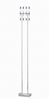 Stehleuchte 8 Flammig Chrom Glas Höhe 178cm Standleuchte