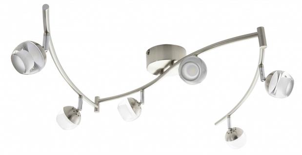 LED Spotleiste Deckenleuchte 6 x 5W Silber Wohnraumleuchte Spot