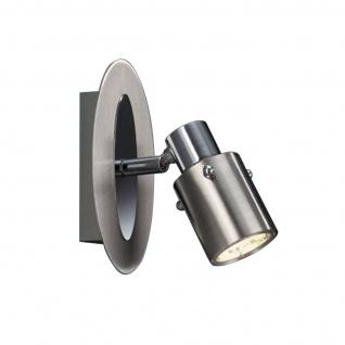 Energiespar Spot Wandleuchte Strahler Stahl gebürstet Schwenkbar 7W GU10