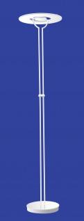 Deutsche LED Stehleuchte Weiss Tastdimmer Höhe 185cm 38W Deckenfluter