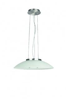 Energiespar Glaspendel Küchenleuchte Silber Ø 50cm