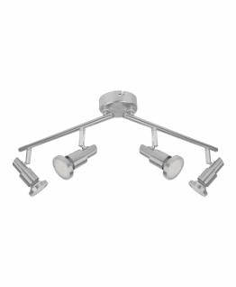 Osram LED Deckenleuchte Silber 4 Flammig Spot Spotbalken Strahler