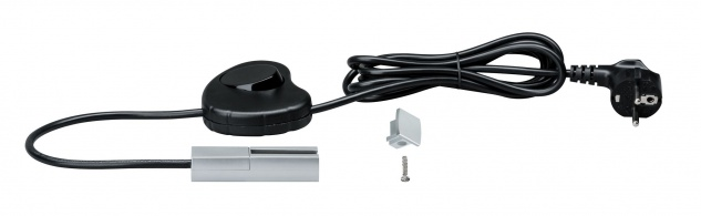 Paulmann URail System Light & Easy Einspeisung mit Kabel Silber 230V Chrom matt