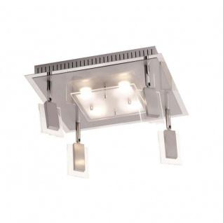 Fischer LED Deckenleuchte Strahler Silber Glas Deckenlampe Leuchte Modern