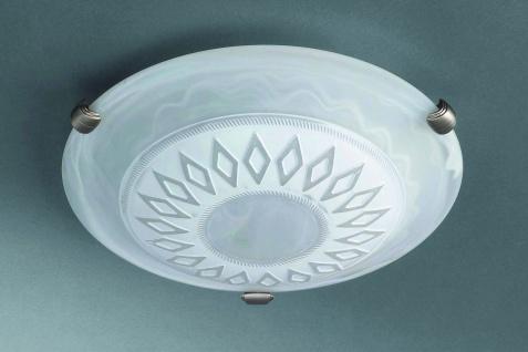 Deckenleuchte Deckenlampe Dekorglas Landhaus Weiss Durchmesser 30cm Glas