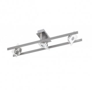 Wofi LED Deckenleuchte Jersey 3 flammig Schwenkbar Kippbar Deckenlampe Nickel Matt