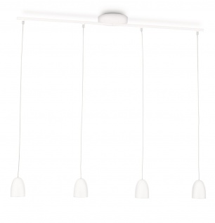 Philips myLiving LED Pendelleuchte Weiss Metall 4 Flammig 55, 8cm