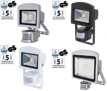 Ledino LED Strahler 10-50W Silber Schwarz Weiß 3000-6500K IR-Sensor