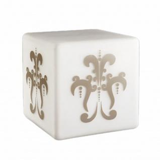 Tischleuchte Modern Eckig Grau Dekoration Tischlampe Dekorglas