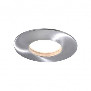 Runde LED Einbauleuchte Alu gebürstet 4 - Stufen Dimmbar 350lm IP44