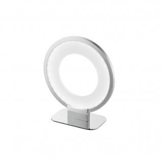 Wofi LED Tischleuchte 6W/230V 385lm Nickel Matt Chrom 3000K Ringform 23x10x20cm