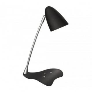 Massive Schreibtischleuchte Axel 1x GU10 7W Schwarz Bürolampe mit Schalter EEK A
