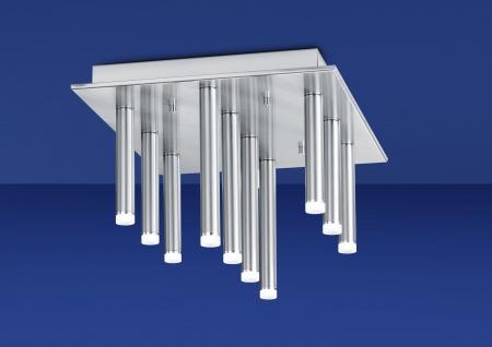 Deutsche LED Deckenleuchte Nickel 2950 Lumen Dimmbar 10 flammig