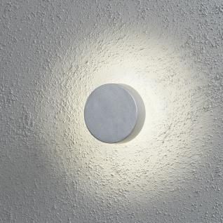 Konstsmide LED Außenwandleuchte Silbergrau Aluminium IP54 400lm Rund Ø 13cm