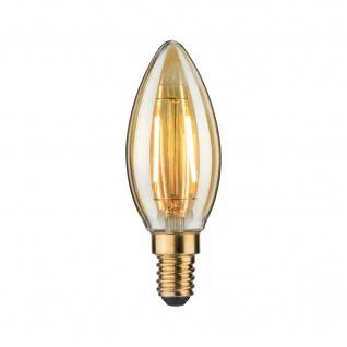 Paulmann LED Lampe Kerze Dekorativ Gold Glühbirne E14 Leuchtmittel 2, 5W