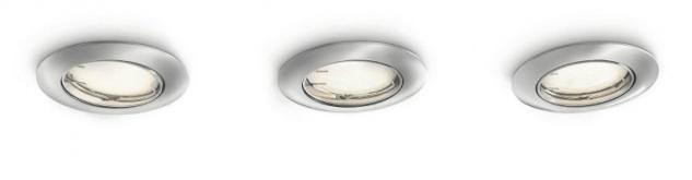 PHILIPS Smart Spots, Einbauspots mit 10W, inklusive Leuchtmittel, 3-flammig 597431716