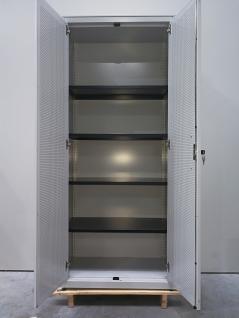 Mauser Metall Flügeltürschrank Aktenschrank Büroschrank lichtgrau 5 Ordner 4 Böden