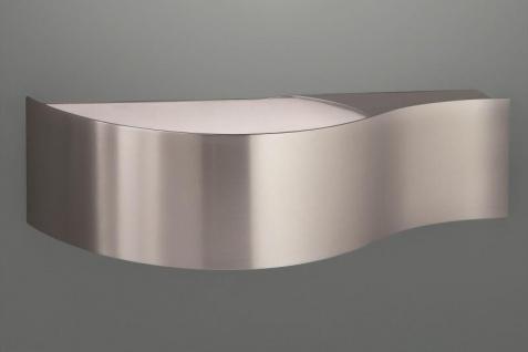Energiespar Wandleuchte Wandlampe Up&Down Metall Silber
