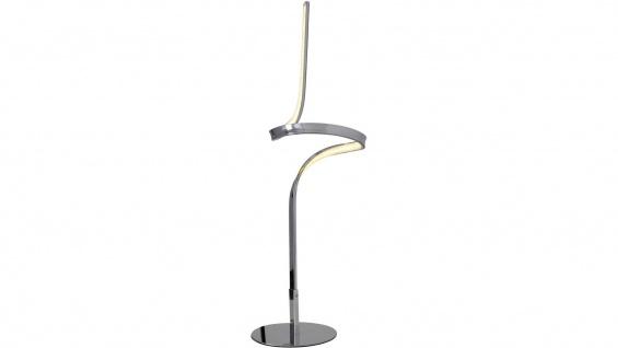 LED Tischleuchte 12W/230V Chrom Metall 672lm Warmweiß 63cm Hoch Ø16cm