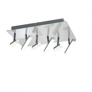 LED Deckenleuchte Nickel Matt 6 Flammig Spot Schwenkbar Verstellbar
