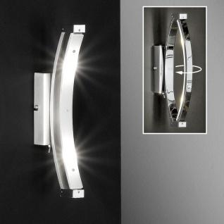 Honsel LED Wandleuchte chrom Schalter Schwenkbar Wandlampe 2 flammig 480lm 3, 2W
