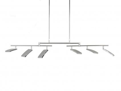 Deutsche LED Pendelleuchte - Höhenverstellbar - Nickel Matt - Dimmbar 3600 Lumen