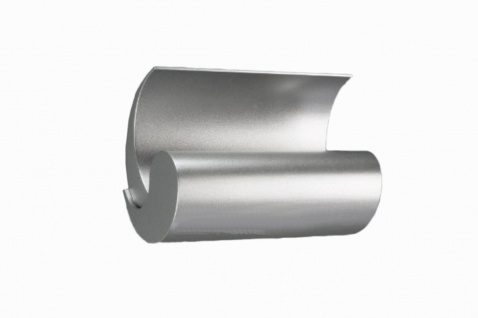 Geschwungene Halogen Wandleuchte Aluminium gebürstet Design