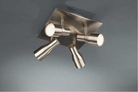 Energiespar Deckenlampe PLAFO Quadrato 4x 7W GU10 nickel matt