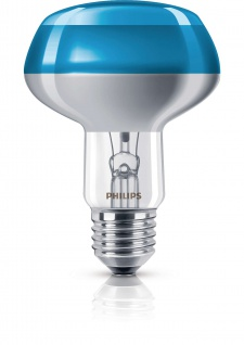 Philips Leuchtmittel Reflektorform E27 Reflektor 60W Blau Glühlampe Partylight