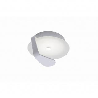 Fischer LED 9W Deckenleuchte Rund Badleuchte Weiß Metall 617lm 13cm Ø21cm