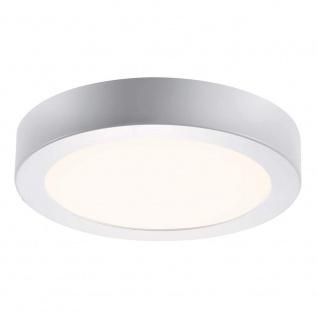 LED Deckenleuchte Farbwechsel RGB Fernbedienung Dimmbar Nickel 480lm Ø 22, 5cm