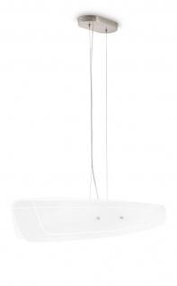 Glaspendelleuchte Silber 2 x 23W Glas 85cm
