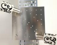 Eglo MY CHOICE Deckenstrahler 2x9W Energiesparlampe + 32x0, 06W LED Dekor Glas Nickel matt Chrom