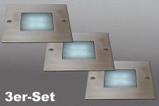 LED Bodeneinbaustrahler 3-flg. Bedford Einbauset Strahler 17079-47-10