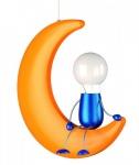 Kinderzimmer Energiespar Pendelleuchte Lunardo Mann im Mond Deckenleuchte