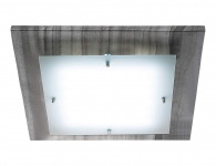LED Deckenleuchte Marmor Anthrazit Eckig 40x40cm 2076lm