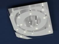 Halogen Deckenleuchte 16xG4 10W Aluminiumschliff