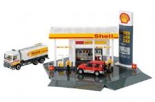 Schuco Junior Line Set Shell Tankstelle Auto LKW 1:72