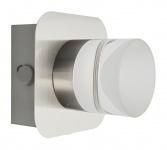 LED Wandleuchte Deckenleuchte 5W Silber Wohnraumleuchte 1 flammig