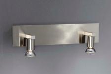Badezimmerleuchte Spiegelleuchte Badleuchte 2 Flammig Silber IP21