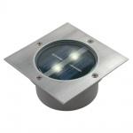 Bodeneinbaustrahler Aussenleuchte Solar Carlo LED Einbaustrahler Eckig Silber