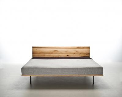 Mazzivo ® OUTLET SALE -35% Designerbett Schwebebett Massivholz MODO Erle 200/200