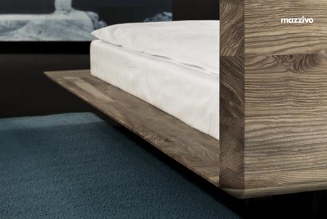 Mazzivo ® OUTLET SALE -35% Designerbett Schwebebett Massivholz SLIM Erle 200/220 Überlänge - Vorschau 4