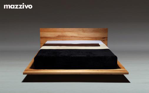 Mazzivo ® OUTLET SALE -35% Designerbett Schwebebett Massivholz MOOD Erle 140/200 - Vorschau 2