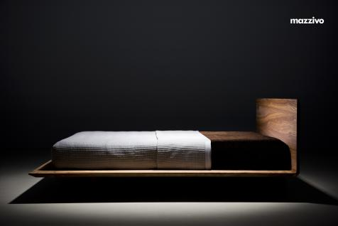 Mazzivo ® OUTLET SALE -35% Designerbett Schwebebett Massivholz SLIM Erle 200/220 Überlänge