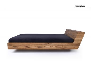 Mazzivo ® OUTLET SALE -35% Designerbett Doppelbett Massivholz LUGO Erle 120/210 Überlänge