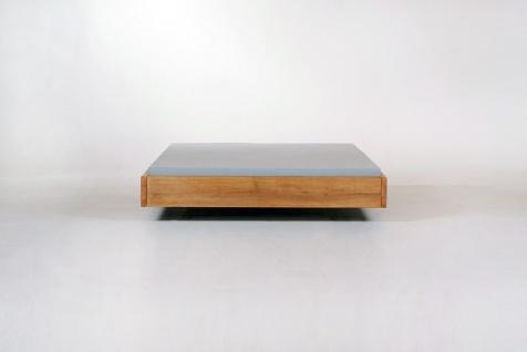 Mazzivo ® OUTLET SALE -35% Designerbett Schwebebett Massivholz LOOP Erle 120/200 - Vorschau 3