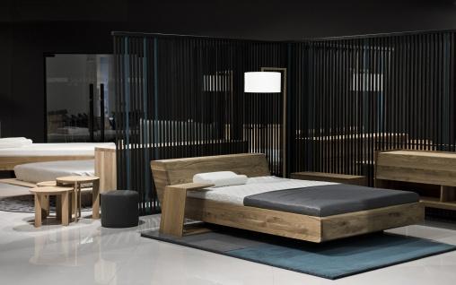 Mazzivo ® OUTLET SALE -35% Designerbett Doppelbett Massivholz LUGO Erle 200/220 Überlänge - Vorschau 1