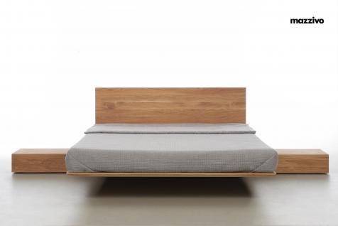 Mazzivo ® OUTLET SALE -35% Designerbett Schwebebett Massivholz NOBBY Erle 200/220 Überlänge - Vorschau 2